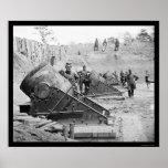 Seacoast Mortars at Yorktown, VA 1862 Poster