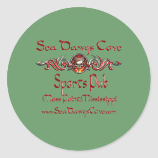 SeaDawgs Cove Sports Pub Classic Round Sticker