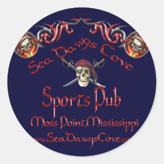 SeaDawgs Cove Sports Pub Classic Round Sticker