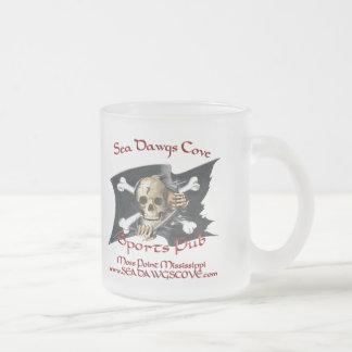 SeaDawgsCove Sports Pub Frosted Glass Coffee Mug