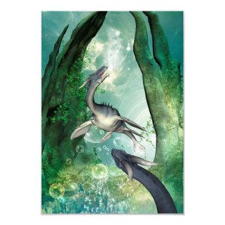 """Seadragon impresionante en un mundo subacuático de invitación 3.5"""" x 5"""""""