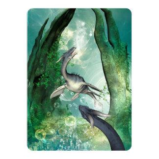 """Seadragon impresionante en un mundo subacuático de invitación 5.5"""" x 7.5"""""""