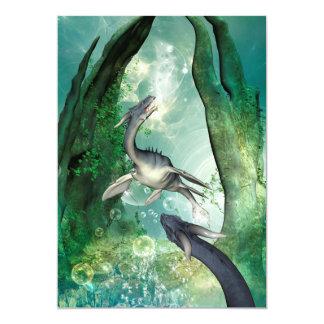 """Seadragon impresionante en un mundo subacuático de invitación 5"""" x 7"""""""