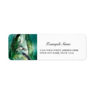 Seadragon impresionante etiqueta de remite