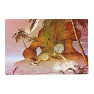 Seadragon with marlin, hunter and hunted placemat