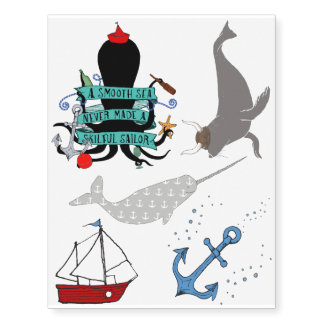Seafaring Temporary Tattoos
