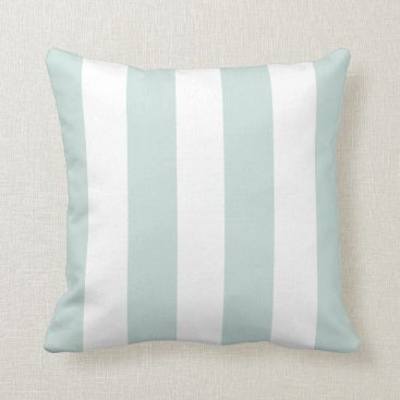 PillowPretty Seafoam and White Striped Throw Pillow