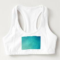 seafoam,aquamarine,background,pattern,teal,digital sports bra