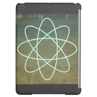 Seafoam Atom on Chipped Paint with Smoke Border iPad Air Cases