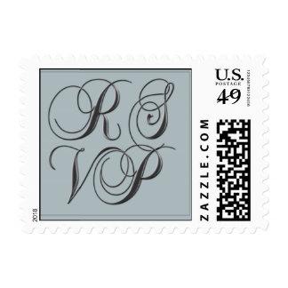 Seafoam blue RSVP Postage Stamp