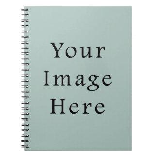 Seafoam Blue Sea Foam Green Color Trend Template Notebook