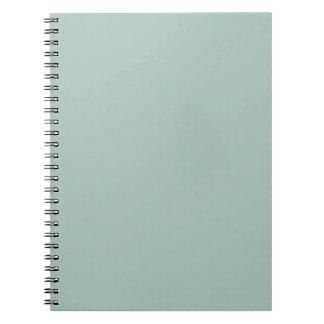 Seafoam Blue Sea Foam Green Color Trend Template Spiral Notebook