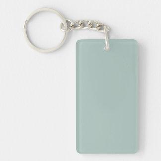Seafoam Blue Sea Foam Green Color Trend Template Single-Sided Rectangular Acrylic Keychain