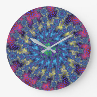 Seafoam Fractal Burst Wall Clock