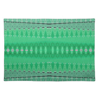 seafoam green abstract placemat