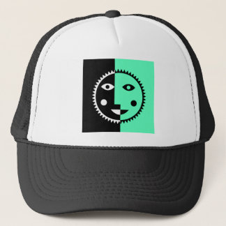 Seafoam Green Abstract Sun Trucker Hat