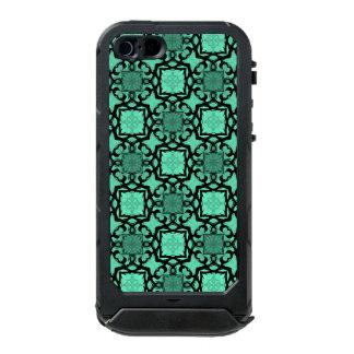 Seafoam green and black geometric kaleidoscope incipio ATLAS ID™ iPhone 5 case