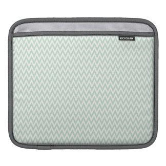 Seafoam Green and White Chevron Stripes iPad Sleeves