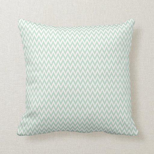 Throw Pillow Seafoam Green : Seafoam Green and White Chevron Stripes Throw Pillow Zazzle
