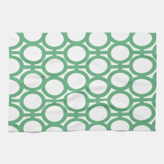 Seafoam Green and White Eyelets Hand Towels