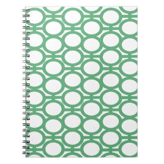 Seafoam Green and White Eyelets Spiral Note Books