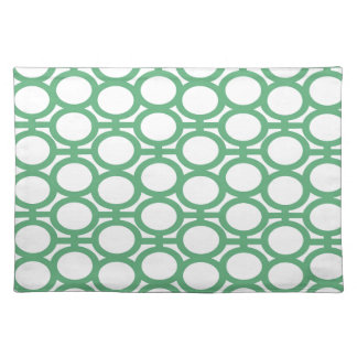 Seafoam Green and White Eyelets Placemat