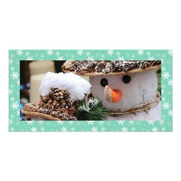 Disney Themed Seafoam Green and White Snow Flurries Custom Card