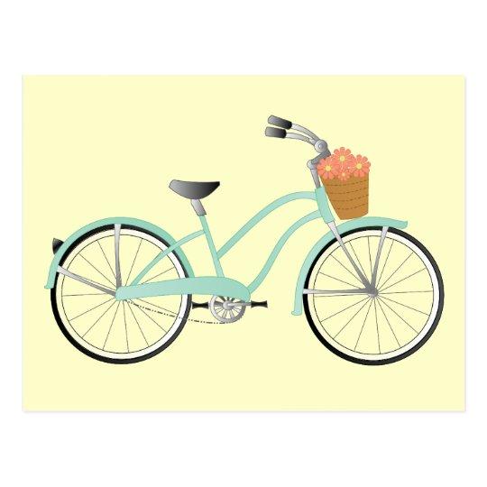 Seafoam Green Bike Postcard