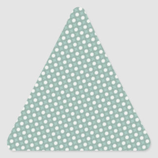 Seafoam Green Dots Triangle Sticker