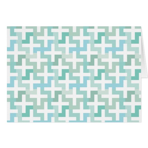 Seafoam Green Geometric Card