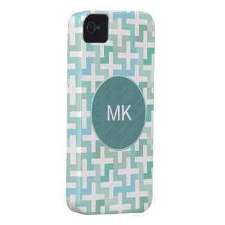 Seafoam Green Geometric iPhone 4 Case-Mate Cases