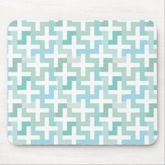 Seafoam Green Geometric Mouse Pad