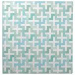 Seafoam Green Geometric Printed Napkin