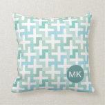 Seafoam Green Geometric Throw Pillow