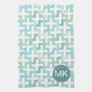 Seafoam Green Geometric Towel