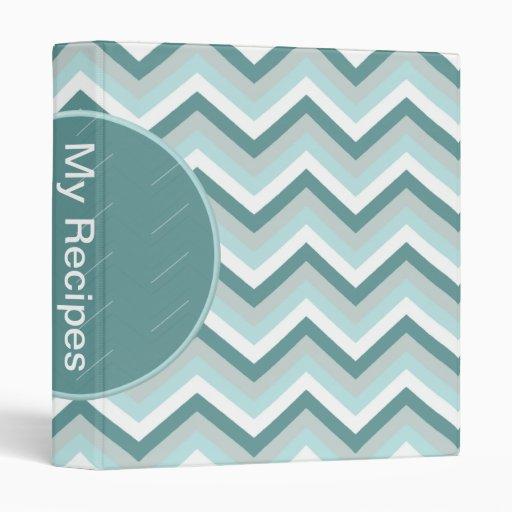 Seafoam Green Geometric Vinyl Binders