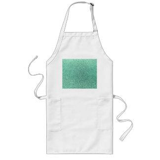Seafoam green glitter aprons