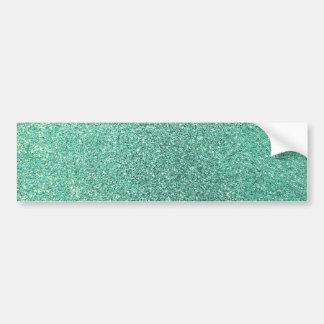 Seafoam green glitter car bumper sticker
