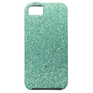Seafoam green glitter iPhone 5 case