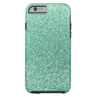 Seafoam green glitter tough iPhone 6 case