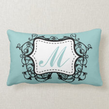 Seafoam Green Monogram Pillows