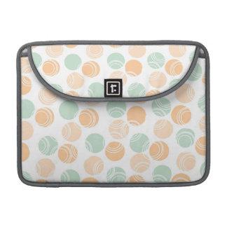 Seafoam Green, Peach, and White Polka Dots MacBook Pro Sleeve