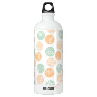 Seafoam Green, Peach, and White Polka Dots SIGG Traveler 1.0L Water Bottle