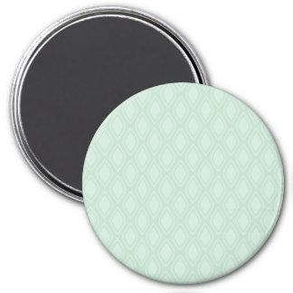 Seafoam Green Retro Pattern Magnet