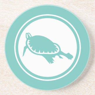 Seafoam Green Sea Turtle Marine Creature coaster