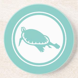 Seafoam Green Sea Turtle Marine Creature coaster