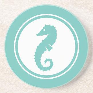 Seafoam Green Seahorse Marine Creature coaster