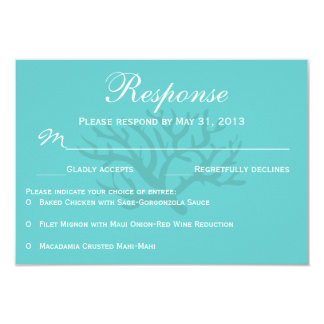 Seafoam Green Seahorse Wedding RSVP Response Cards Personalized Announcements