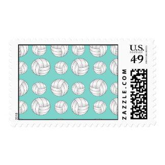 Seafoam green volleyballs pattern stamps
