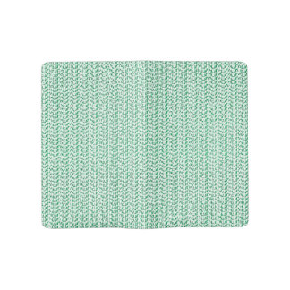 Seafoam Green Weave Look Large Moleskine Notebook Cover With Notebook